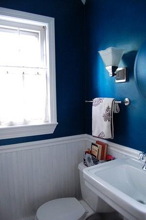 ディープブルーなトイレ