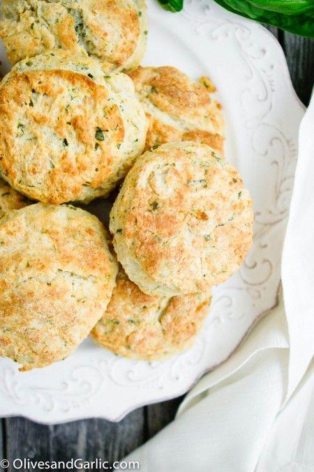 Buttermilk Basil Parmesan Biscuits