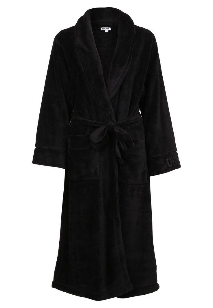 DKNY Intimates Szlafrok black 311.20zł #moda #fashion #women #kobieta #dkny #intimates #szlafrok #black #damski #czarny #długi #bielizna #damska