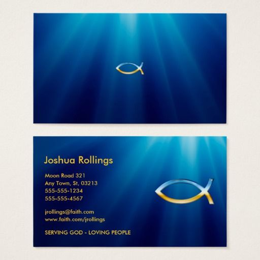 The 154 best fishing business cards images on pinterest business christian fish symbol inspirational business card colourmoves