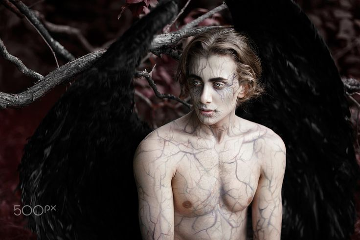 """dark angel - My attempt to interpret an ingenious way of Satan in Milton's poem 'Paradise Lost""""  (it is not Satan, actually, anyway - enjoy yourself)"""