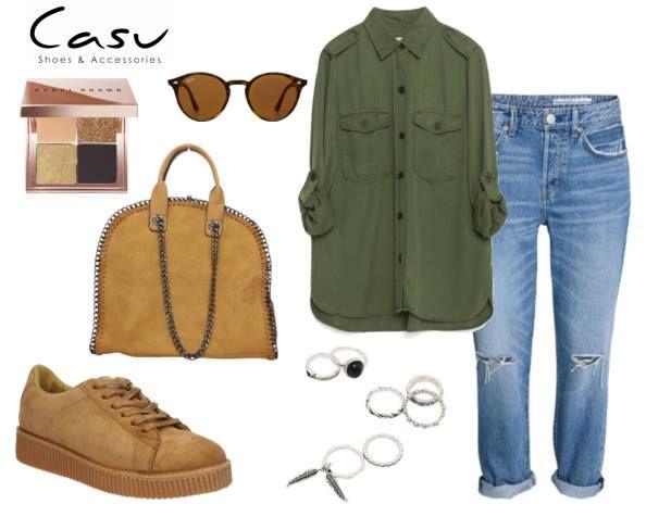 Kolor khaki zarezerwowany wyłącznie na jesień? Zdecydowanie nie!  #ootd #outfit #fashion #moda