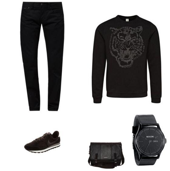 Minimalistische Outfit - #JackJones #PepeJeans #Nike #Nixon #Billabong - Clooy.nl