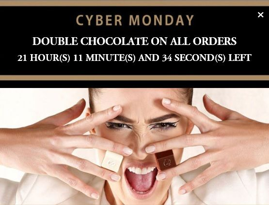 Cyber Monday Special from zChocolat - Double Chocolate ALL Day! #zchocolat #chocolates #cybermonday #giftsforher