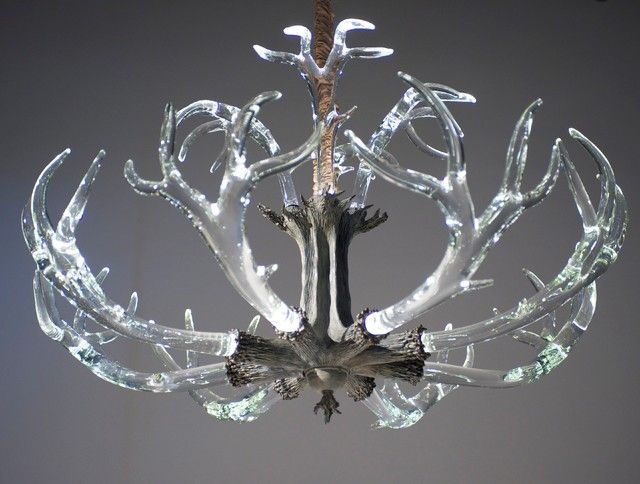 12 best how to fit the fantastic antler chandelier into various room excellent glass antler chandelier aloadofball Images