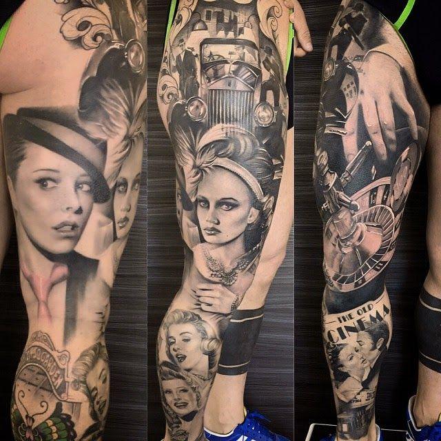 Tattoo by Alex de Pase