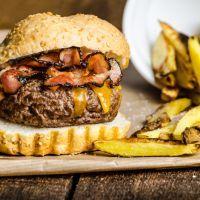 Just Like Applebee's Triple Bacon Burger