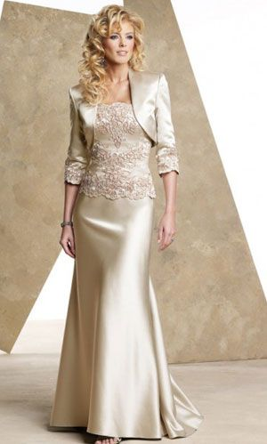 mother of the bride dress Love the top but better with a knee length