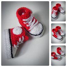 Красный младенца вязания крючком кеды, новорожденных обувь, младенец вязания крючком пинетки, кроссовки для детей, детские мокасины, душа ребенка подарок, выбрать размер(China (Mainland))