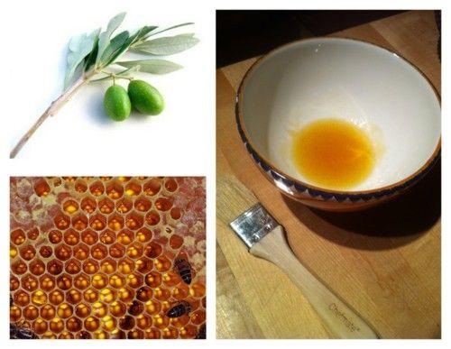 Маска для волос с оливковым маслом и медом