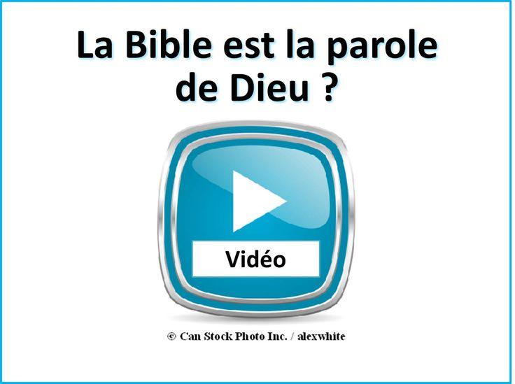 La Bible est la parole de Dieu ? S'il vous plaît regarder cette vidéo pour découvrir : http://www.jw.org/fr/publications/livres/de-bonnes-nouvelles-de-la-part-de-dieu/bonnes-nouvelles-de-la-bible-viennent-de-dieu/video-bible-digne-de-confiance/   (Is the Bible the word of God? Please watch this video to find out.)