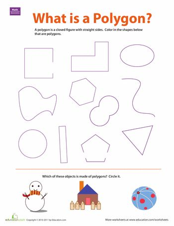 Worksheets: What is a Polygon?