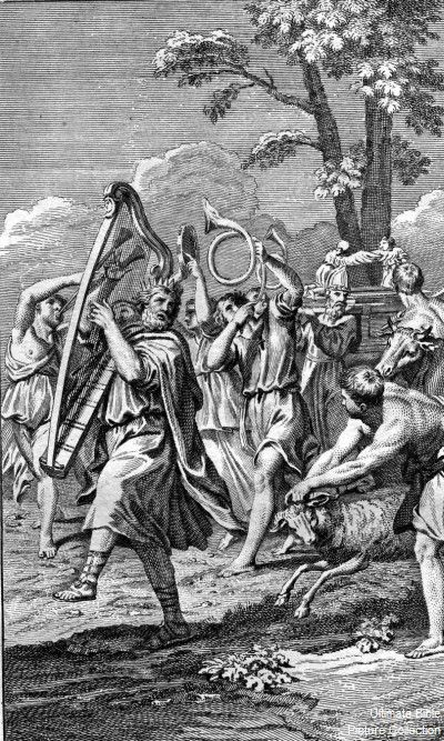2 Samuel 6 Bible Pictures: David dances before the Ark of the Covenant