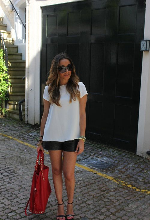 Zara  Shirt / Blouses, Zara  Heels / Wedges and Zara  Bags