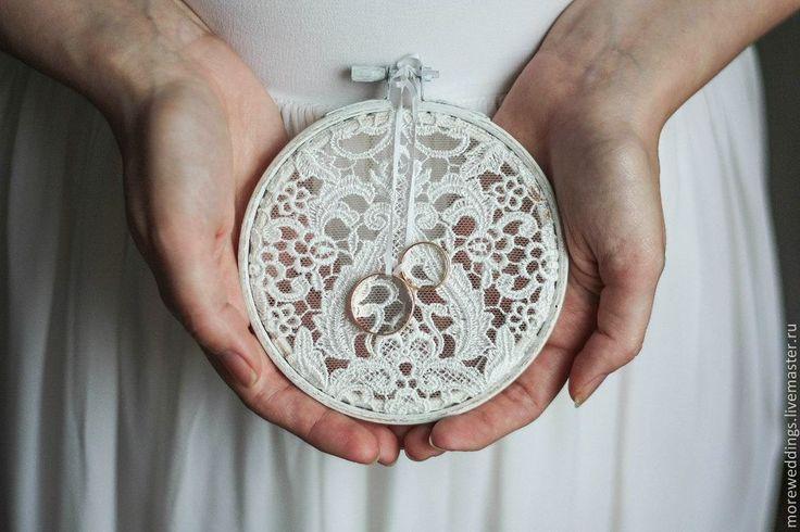 Купить Подушечка для колец - белый, подушечка для колец, свадьба, свадебные аксессуары, свадебное украшение