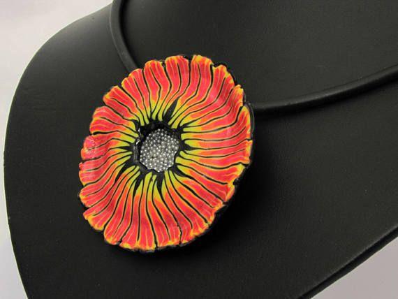 Feen Blüte aus handgefertigten Polymer Clay Halskette
