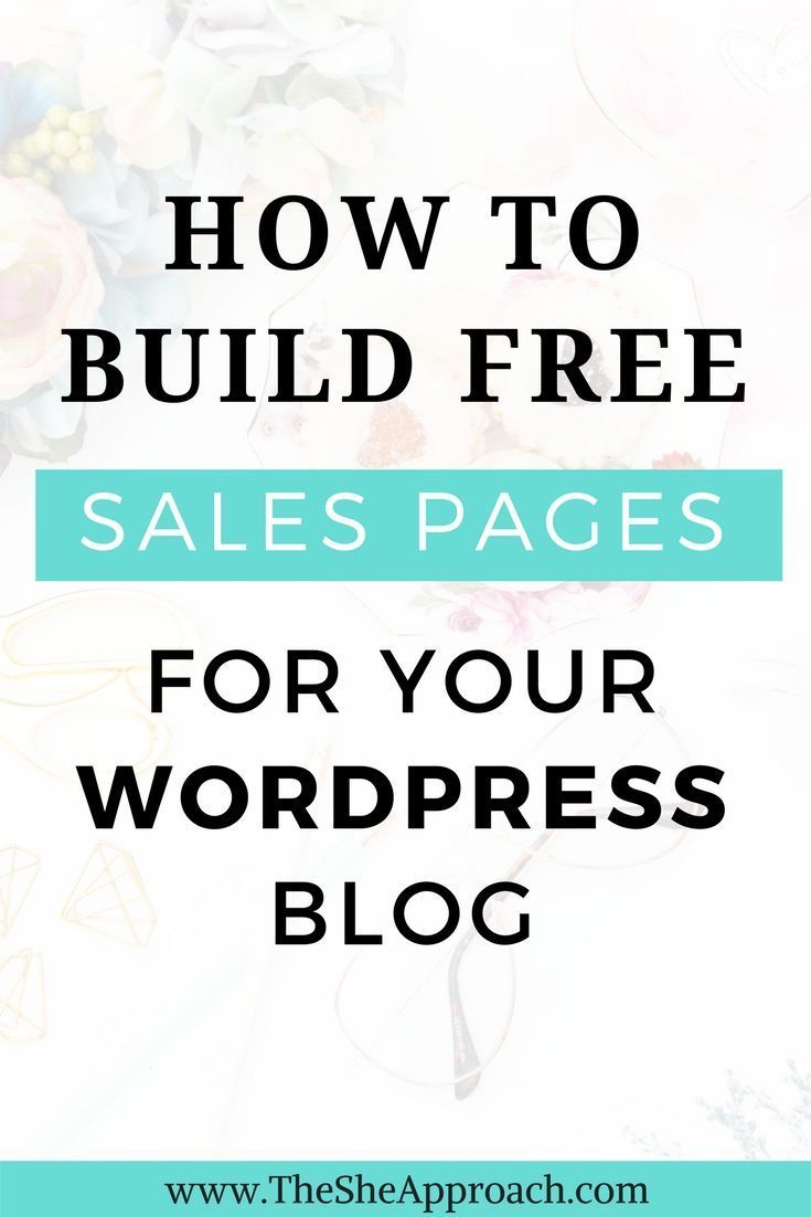how to create a sales page for free