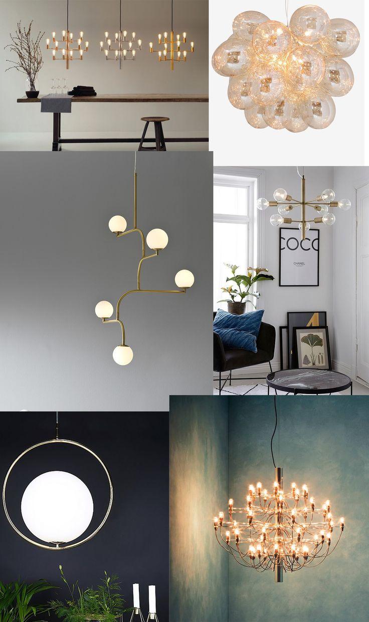 6 st vackra taklampor!   #kök #vardagsrum #sovrum #DIY #Matrum #Hall #inspiration #lampor #stora #fönster #design #matbord #ellos #flos #inreda