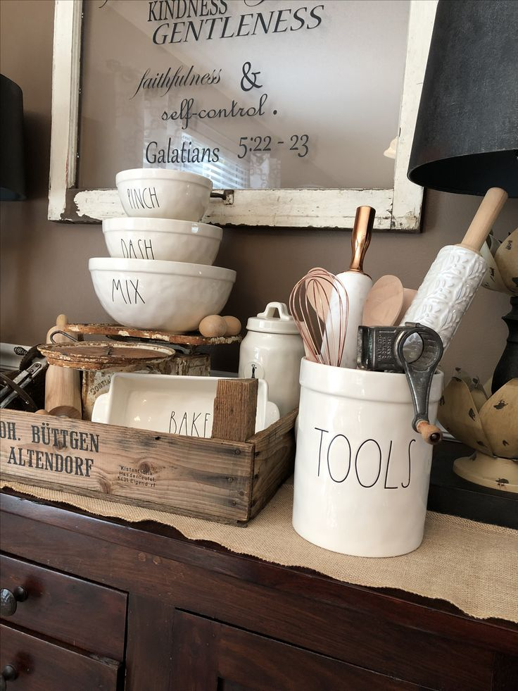 Rae Dunn Bake Station With Tools And Ll Mixing Bowls