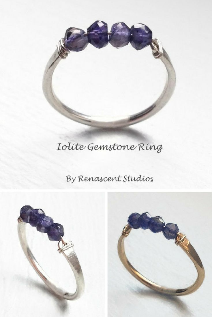 This is a lovely faceted raw Iolite gemstone ring that is just gorgeous! A beautiful stone that reminds one of a crisp dark winter sky with shades of deep blue to violet-blue.
