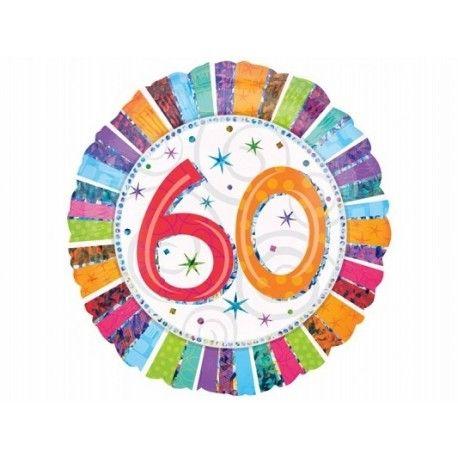 """Wyjątkowy prezent na 60 urodziny - Balon 60  - Foliowy, Okrągły, Wypełniony Helem 19"""" czyli 47cm.  Zrób niespodziankę urodzinową na okrągłe, sześćdziesiąte urodziny - balon nadaje się zarówno na urodziny mężczyzny jak i kobiety!  Jak długo unosi się w powietrzu? Sprawdźcie sami:)  http://www.niczchin.pl/balony-z-helem-dla-dzieci-krakow/2205-balon-urodzinowy-z-helem-60te-urodziny.html  #balon #balony #balon60 #balonyzhelem #niczchin #prezenty #krakow"""