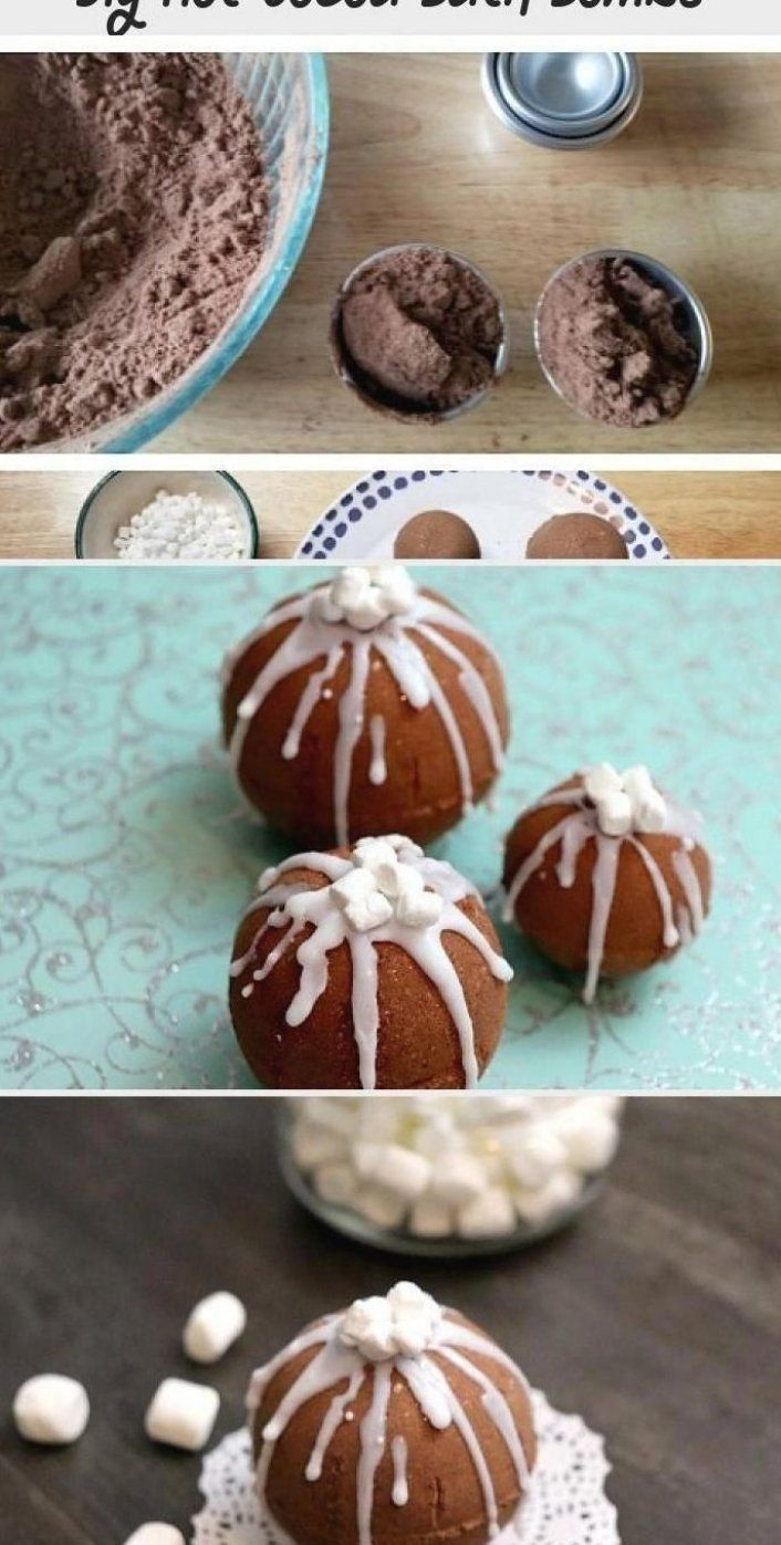 DIY Hot Cocoa Bath Bombs These DIY hot cocoa bath bombs