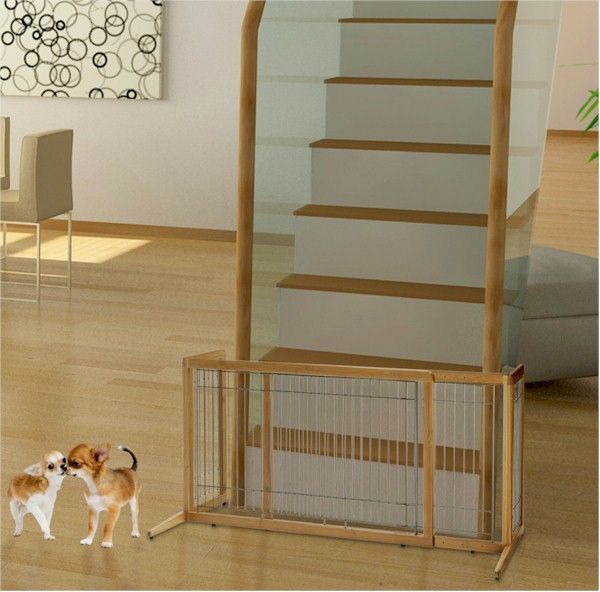 Bamboo Freestanding Dog Gate