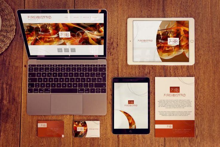 Macbook Mockup, Ipad Air 2 Mockup, Ipad mini Mockup, business cards front Mockup and back and flyer Mockup.