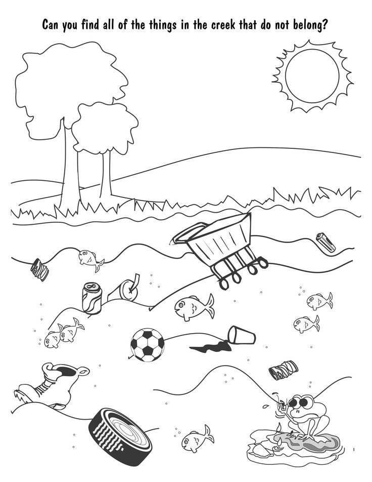 water pollution coloring sheets