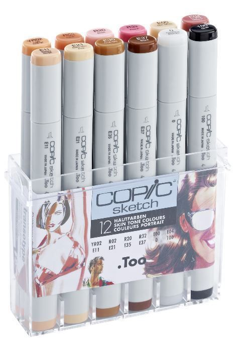 COPIC SKETCH MARKER PENS - 12 SKIN COLOURS SET - GRAPHIC ART MARKERS in Crafts, Art Supplies, Drawing & Lettering Supplies | eBay