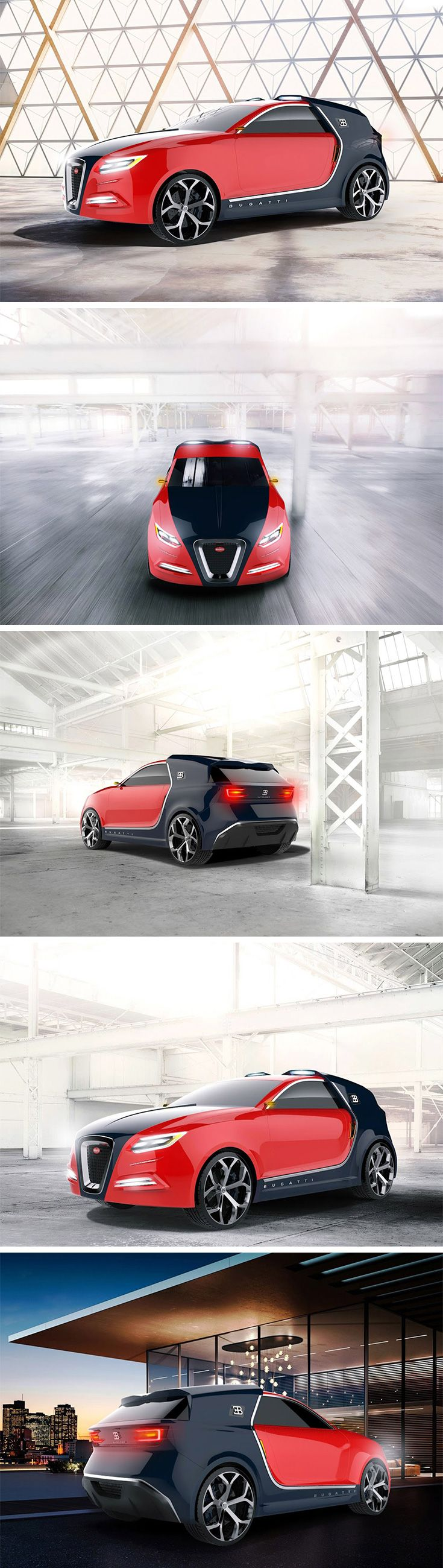 The Intruder concept explores what we might expect in the way of an SUV from the legendary sports car brand Bugatti. The Intruder has channeled the same signature aesthetic that looks as if one car is emerging from the nose of another car. You'll also find the familiar, though slightly elongated, side vents and grill.