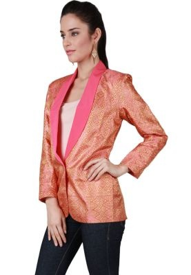 Songket Blazer Pink Top | songket of Indonesia