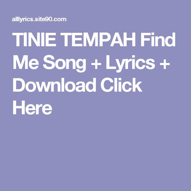 TINIE TEMPAH Find Me Song + Lyrics + Download  Click Here