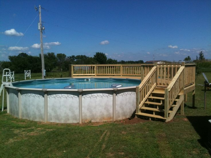 round above ground pools with decks