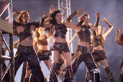 Ruslana. Eurovision 2004. Dressed for a slutty battle.