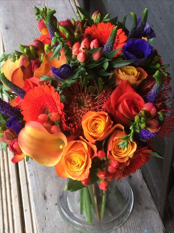 Orange Brides bouquet