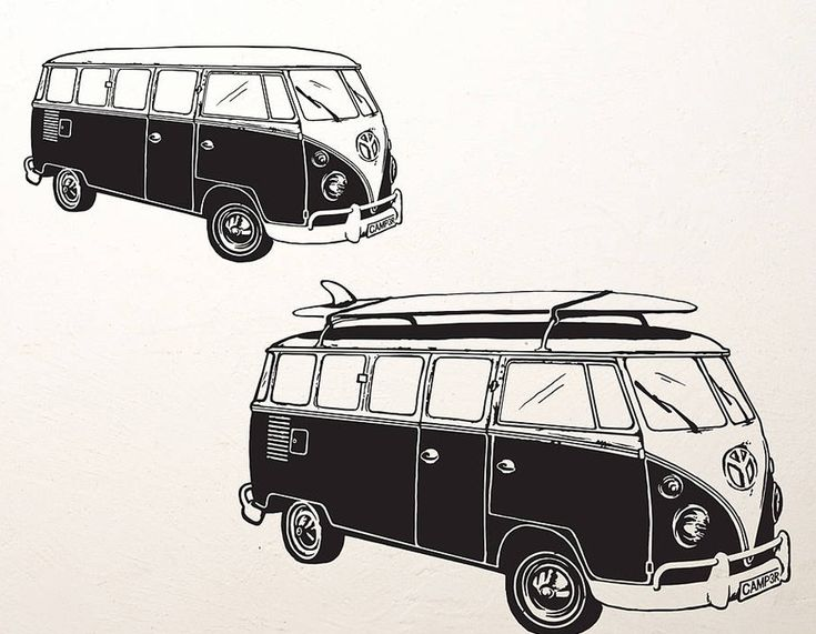 For those who love to explore and surf, this camper van wall sticker is perfect to bring a summer feeling to any room!