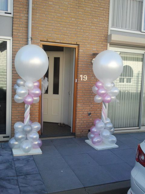 ballondecoratie: pilaar standaard Voor een mooie entree, langs de dansvloer of bij het ophalen van de bruid bij het ouderlijk huis