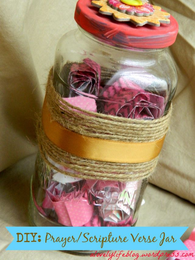 DIY Prayer/Scripture Verse Jar