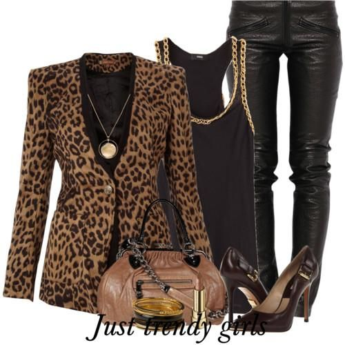 Leopard prints outfits | Just Trendy Girls