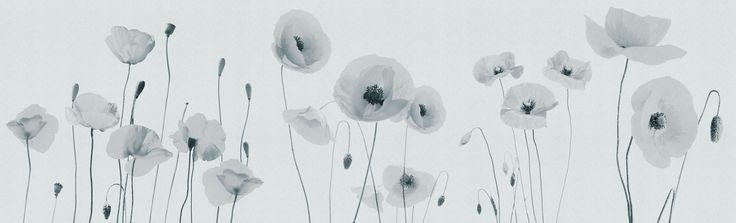 Poppies rivestimenti - Inkiostro Bianco