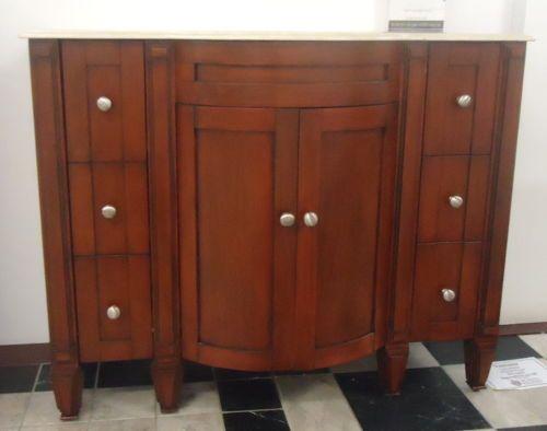 Astor-Antique-Timber-Cognac-Art-Deco-Single-Bathroom-Vanity-Cabinet-Beige-Top