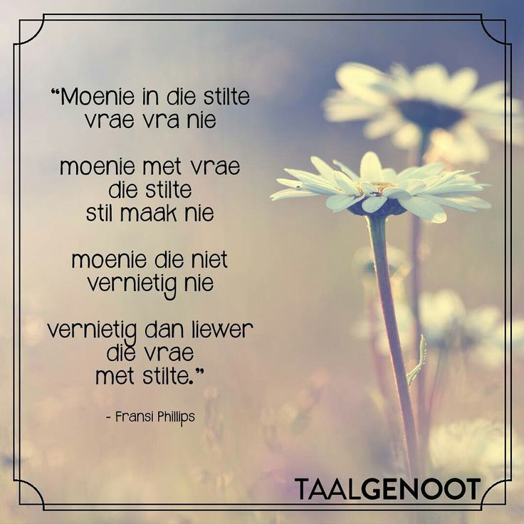 Moenie die stilte stil maak nie... __ⓠ Fransi Phillips  #Afrikaans #mooiwoorde #beStill #Don't #Taalgenoot