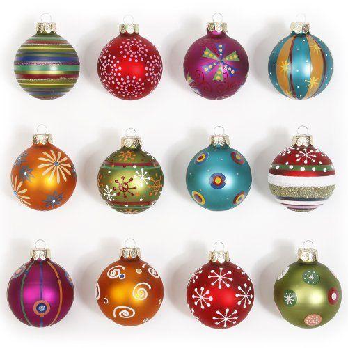 Inge-glasGmbH über amazon.de liebe diese Weihnachtsbaumkugeln. Auch gute Insiration für eigene Gestaltung ;)