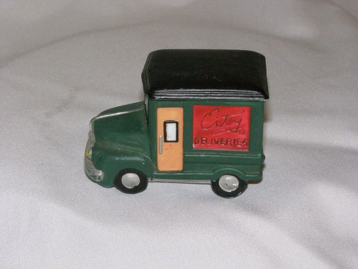Vintage 1987 Dept. 56 Christmas in the City Delivery Truck by parkie2 on Etsy