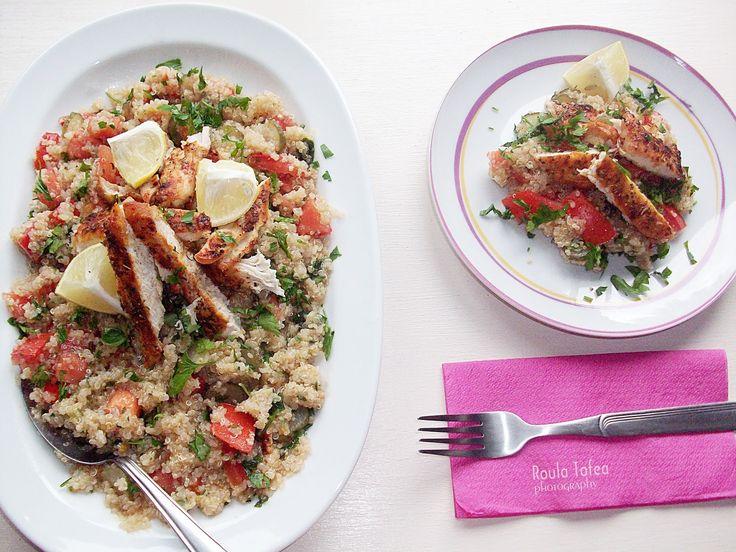 Unique flavors: Υπέροχη σαλάτα με Κινόα και Κοτόπουλο