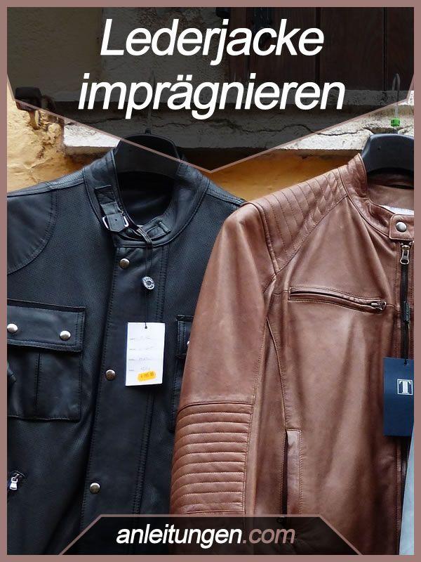 Lederjacke imprägnieren - Man sollte eine Lederjacke regelmäßig pflegen. Zu dieser Pflege gehört auch die Imprägnierung, damit das Leder Wasser abweist und nicht steif wird. Wie du die Jacke richtig imprägnierst, erfährst du hier.