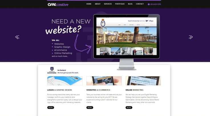 We dyed our website purple to support the Dockers! #gofreo! www.cvwcreative.com.au