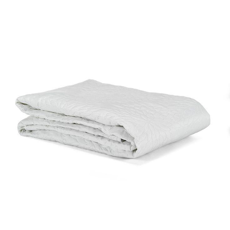 Couvre-lit blanc 220x250cm Blanc - Muli - Les plaids - Textiles et tapis - Salon et salle à manger - Décoration d'intérieur - Alinéa