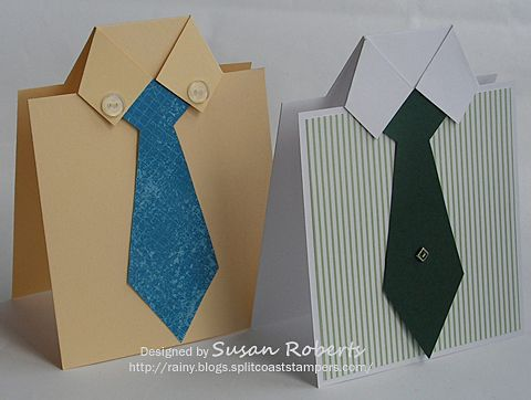 masculine cards. shirt tutorial by susan roberts